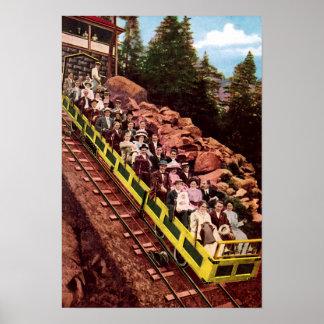 Colorado Springs Colorado Mt Manitou Incline Poster