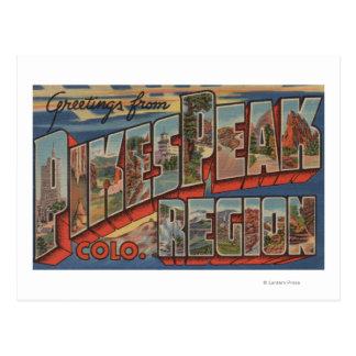 Colorado Springs, Colorado - pico de los lucios Tarjetas Postales