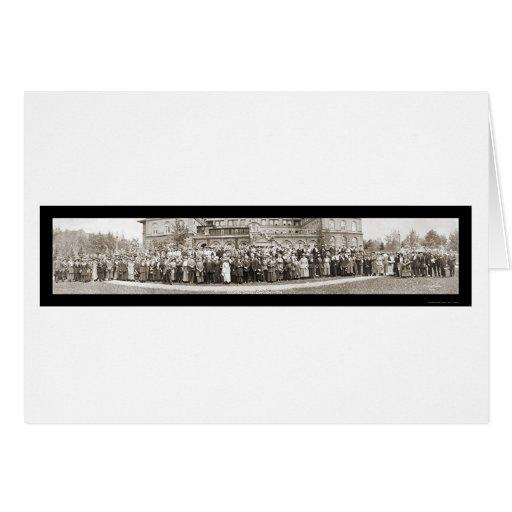 Colorado Springs, foto 1920 del CO Tarjeta De Felicitación