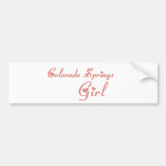 Colorado Springs Girl tee shirts Car Bumper Sticker