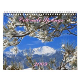 Colorado Springs, imágenes del arte del CO Calendarios De Pared