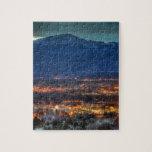 "Colorado Springs Lights Jigsaw Puzzle<br><div class=""desc"">Pikes Peak and the lights of Colorado Springs</div>"