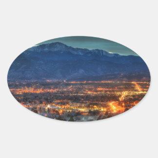 Colorado Springs Lights Oval Sticker