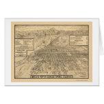 Colorado Springs, mapa panorámico del CO - 1909 Tarjeta De Felicitación