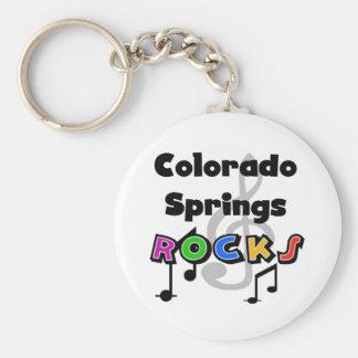 Colorado Springs Rocks Basic Round Button Keychain