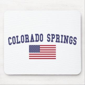 Colorado Springs US Flag Mouse Pad