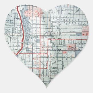 COLORADO SPRINGS Vintage Map Heart Sticker