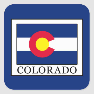 Colorado Square Sticker