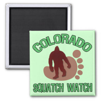 Colorado Squatch Watch 2 Inch Square Magnet