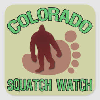 Colorado Squatch Watch Square Sticker