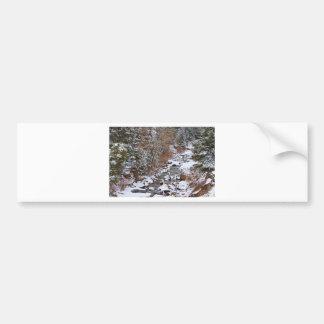 Colorado St Vrian Winter Scenic Landscape View Bumper Sticker