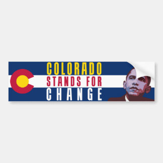 Colorado Stands for Change - Obama Bumper Sticker Car Bumper Sticker