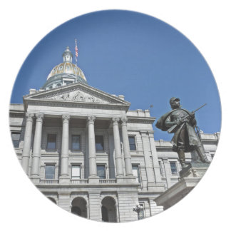 Colorado State Capitol Building Dinner Plate