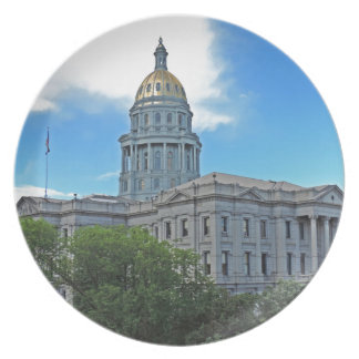 Colorado State Capitol Building Dinner Plates