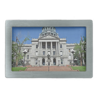 Colorado State Capitol Building Rectangular Belt Buckle