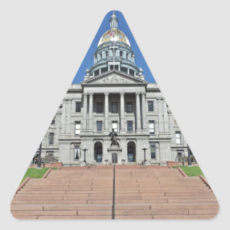 Colorado State Capitol Building Triangle Sticker