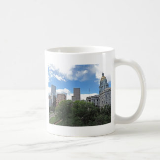 Colorado State Capitol Building with Skyscapers Coffee Mug