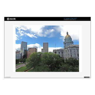 """Colorado State Capitol Building with Skyscapers Decals For 15"""" Laptops"""