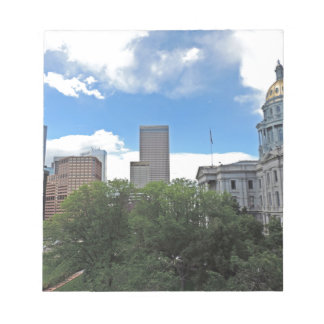 Colorado State Capitol Building with Skyscapers Memo Pads
