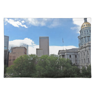Colorado State Capitol Building with Skyscapers Placemat