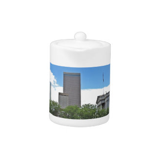 Colorado State Capitol Building with Skyscapers Teapot