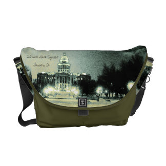 Colorado State Capitol Digital Art, Acanthus Leaf Messenger Bag