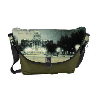 Colorado State Capitol Digital Art Messenger Bag