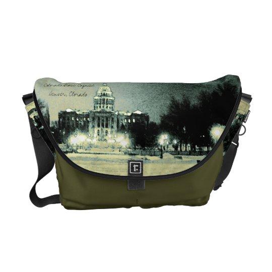 Colorado State Capitol Digital Art Messenger Bag