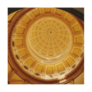 Colorado State Capitol Rotunda, Wood Print