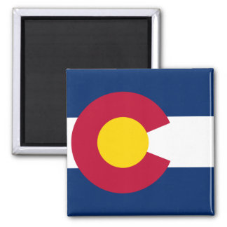 Colorado State Flag 2 Inch Square Magnet