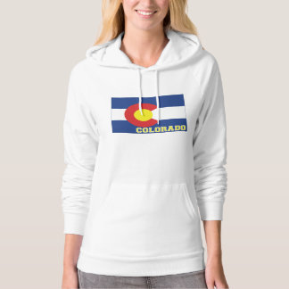 Colorado State Flag and Map Hooded Sweatshirt