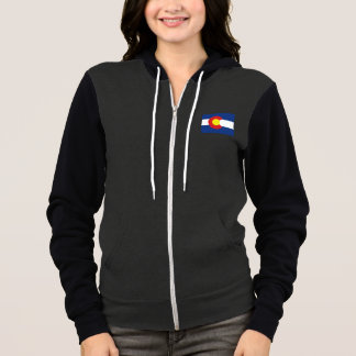 Colorado State Flag and Map Hoodie
