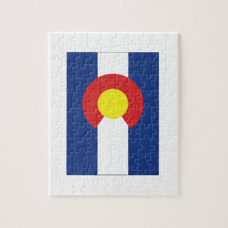 Colorado State Flag and Map Jigsaw Puzzle
