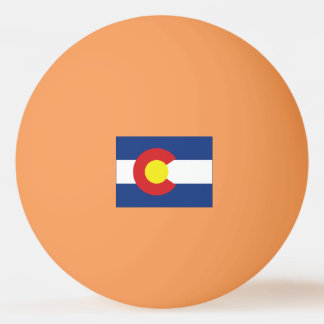 Colorado State Flag and Map Ping-Pong Ball