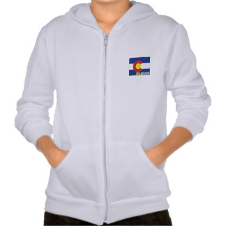 Colorado State Flag and Map Pullover