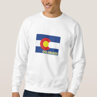 Colorado State Flag and Map Pullover Sweatshirt