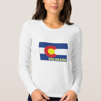 Colorado State Flag and Map T Shirt