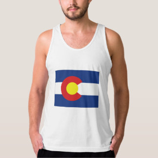 Colorado State Flag and Map Tank