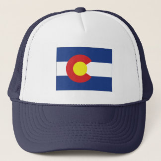 Colorado State Flag and Map Trucker Hat