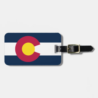 Colorado State Flag Bag Tag