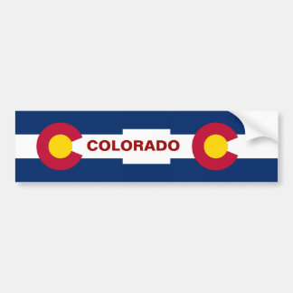 Colorado State Flag Bumper Sticker