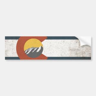 Colorado State Flag Bumper Sticker Car Bumper Sticker