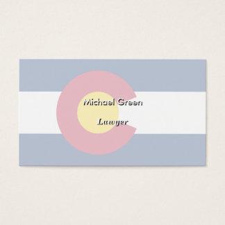 Colorado State Flag Business Card