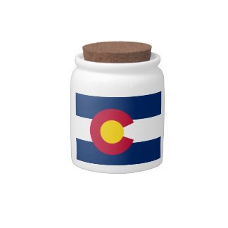 Colorado State Flag Candy Jars