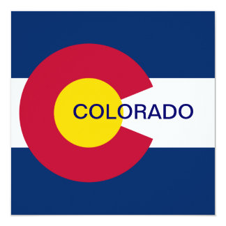 Colorado State Flag Card