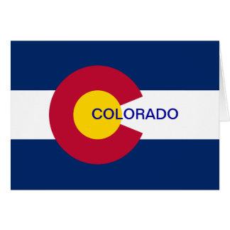 Colorado State Flag Card