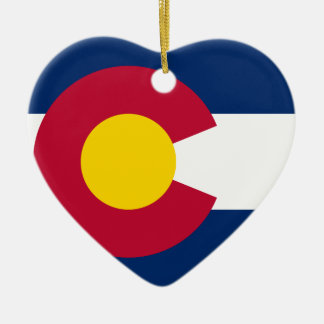 Colorado State Flag Ceramic Ornament