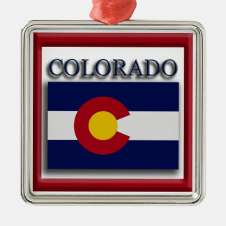 Colorado State Flag Christmas Ornament