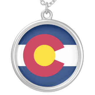 Colorado State Flag Circle Necklace