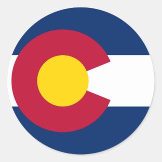 Colorado State Flag Classic Round Sticker
